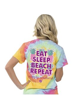 Simply Southern Collection Youth - SIMPLY SOUTHERN® - Eat, Sleep, Beach, Repeat T-Shirt