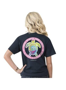 Simply Southern Collection SIMPLY SOUTHERN® Youth Tie Dye Turtle Short Sleeve T-Shirt