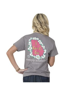 Simply Southern Collection Youth - SIMPLY SOUTHERN® SHORT SLEEVE PREPPY GEORGIA T-SHIRT