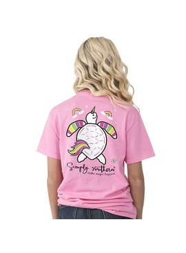 Simply Southern Collection Simply Southern Save the Turtles Unicorn Short Sleeve T-Shirt