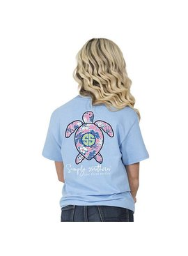 Simply Southern Collection SIMPLY SOUTHERN® Save The Turtles 'HIBISCUS' Short Sleeve T-Shirt