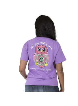 Simply Southern Collection Simply Southern® Short Sleeve Preppy Owl T-Shirt