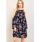 Entro Inc Floral print open-shoulder dress