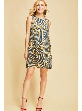Entro Inc Zebra print shift dress