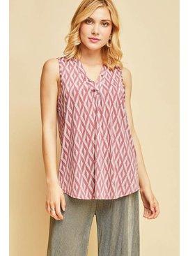 Entro Inc Printed sleeveless top