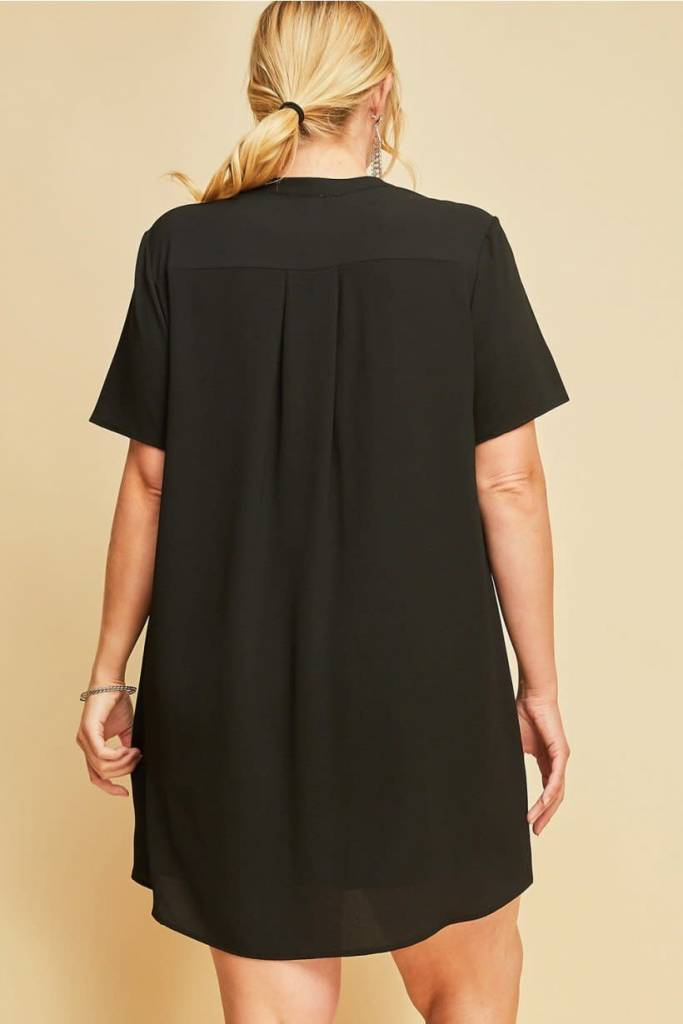 Entro Inc Entro V Neck Shift Dress