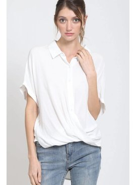 Button-Down Front-Tuck Shirt