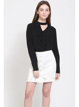 Very J Fray Skirt