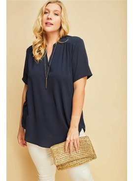 Entro Inc V-neck blouse top