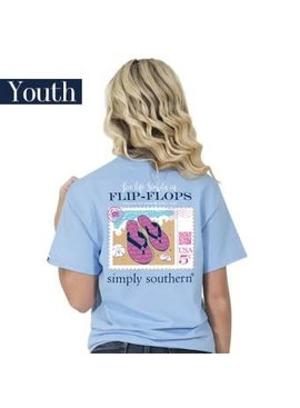 Simply Southern Collection YOUTH Simply Southern Preppy Flop T-shirt