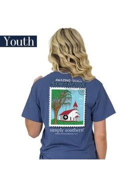 Simply Southern Collection YOUTH Simply Southern Preppy Amazing Grace T-shirt