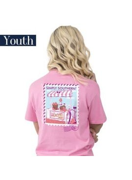 Simply Southern Collection YOUTH Simply Southern Preppy Peach T-shirt