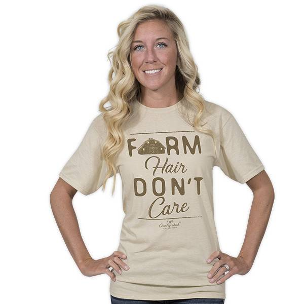 Simply Southern Collection Country Chick Farm Hair T-Shirt