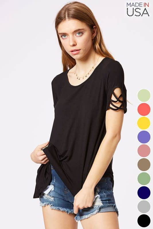 Casual Top with Cutout Details