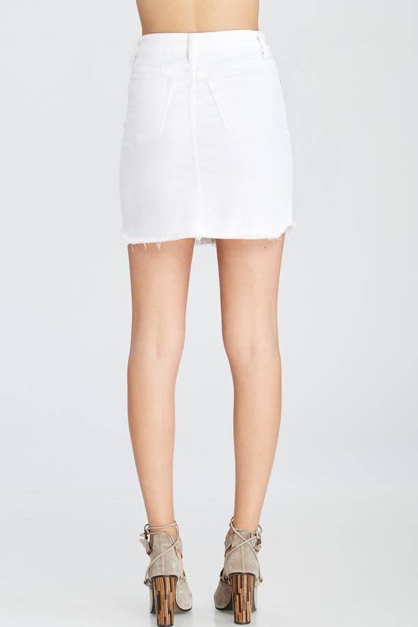 Wishlist Wishlist 5-Pocket Cotton Denim Mini Skirt