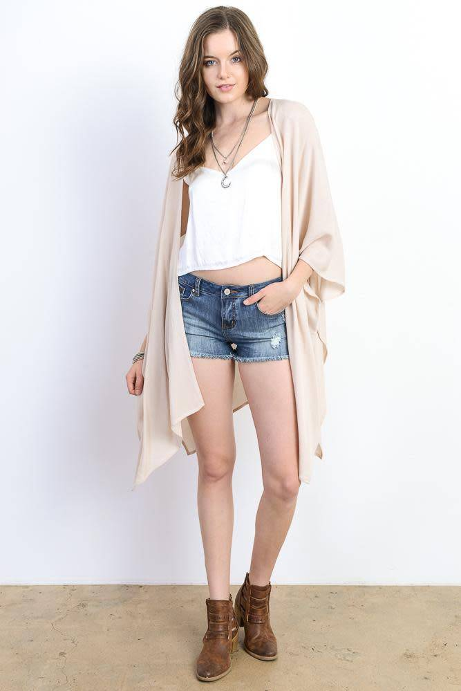 Wishlist Wishlist Handkerchief Hem Open Kimono Cardigan