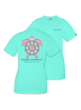 Simply Southern Collection Youth Simply Southern -Preppy Turtle -T-Shirt
