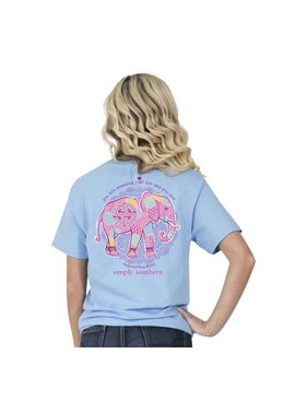 Simply Southern Collection Youth - Simply Southern Preppy Elephant T-Shirt