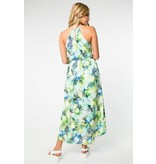 Everly Everly Tropical Print Maxi Romper