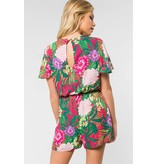 Everly Everly Tropical Print Romper