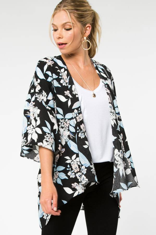 Everly Everly floral kimono