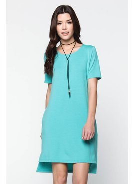 Everly Everly French Terry Shift Dress