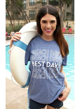 ATX Mafia, LLC Beach Days Best Days (Navy) - Short Sleeve