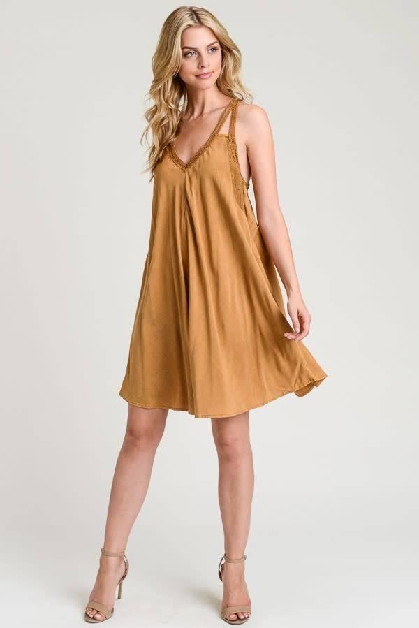 Hem & Thread, INC. Hem & Thread V Neck Washed Dress