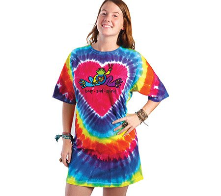 Peace Frogs, Inc HEART FROG Tie-Dye T-Shirt