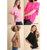 Layered Ruffle Sleeve and Round Neck Top