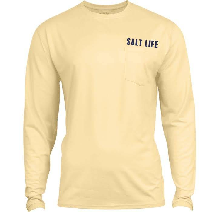 Salt Life Electric Skinz Badge Performance Long Sleeve Pocket Tee