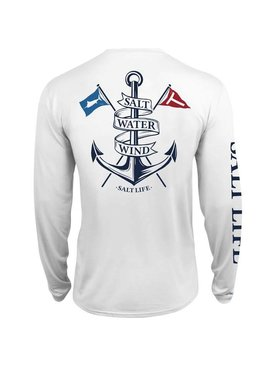 Salt Life Salt Water Wind Anchor Performance Long Sleeve Pocket Tee
