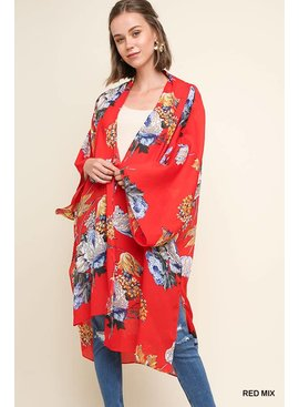 Open Front Long Kimono