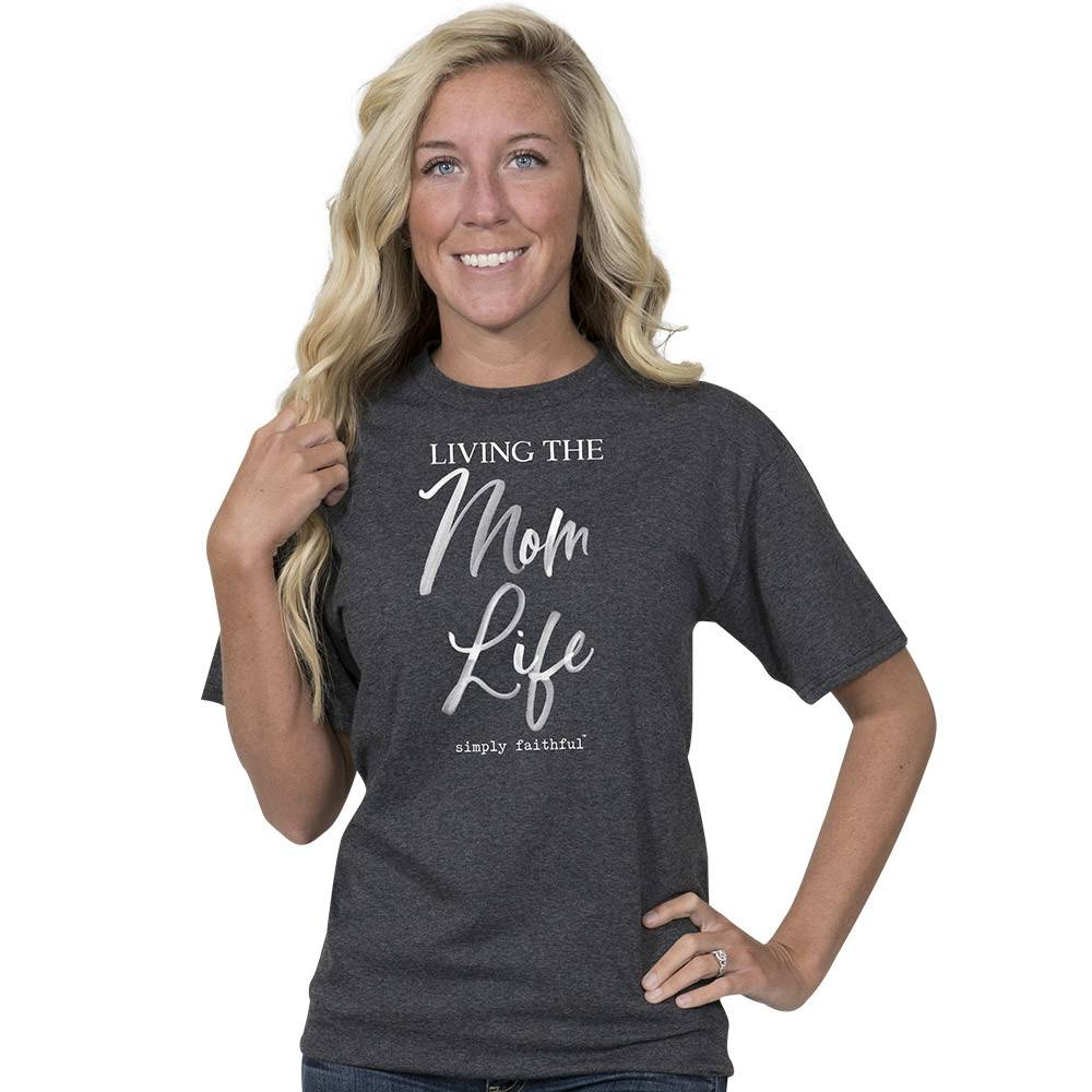Simply Faithful SIMPLY FAITHFUL® Living The Mom Life Short Sleeve T-Shirt