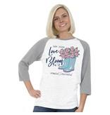 Simply Faithful SIMPLY FAITHFUL® Let Your Love Bloom 3/4 Sleeve T-Shirt