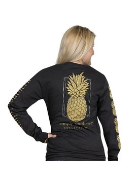 Simply Southern Collection Simply Southern Pineapple Long Sleeve T-shirt