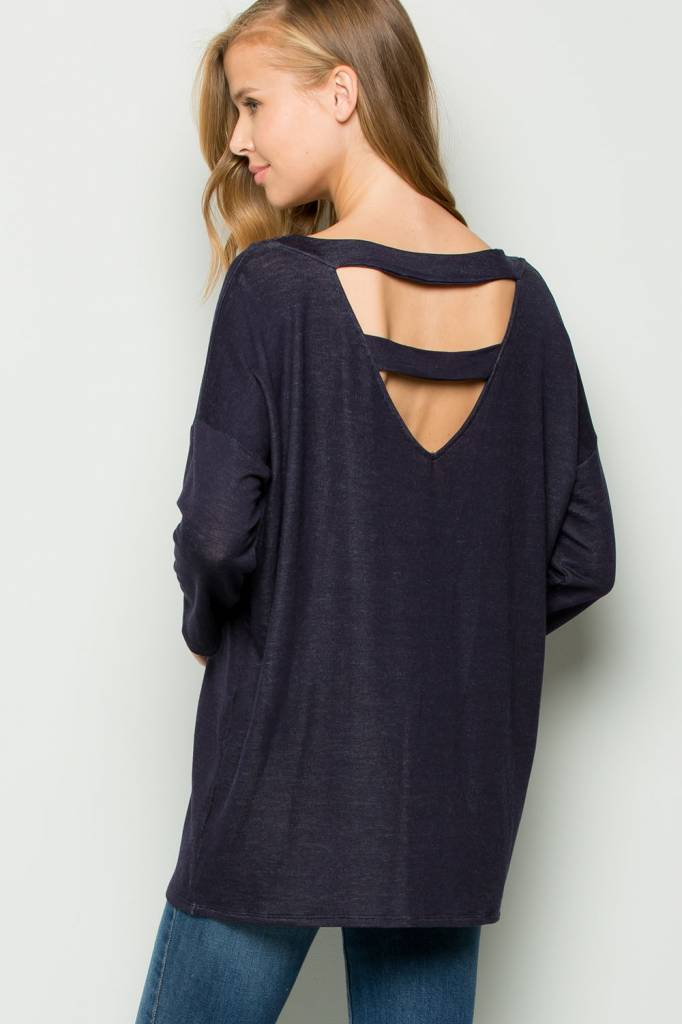 EE:SOME USA EE:SOME Ladder Cutout Back Top