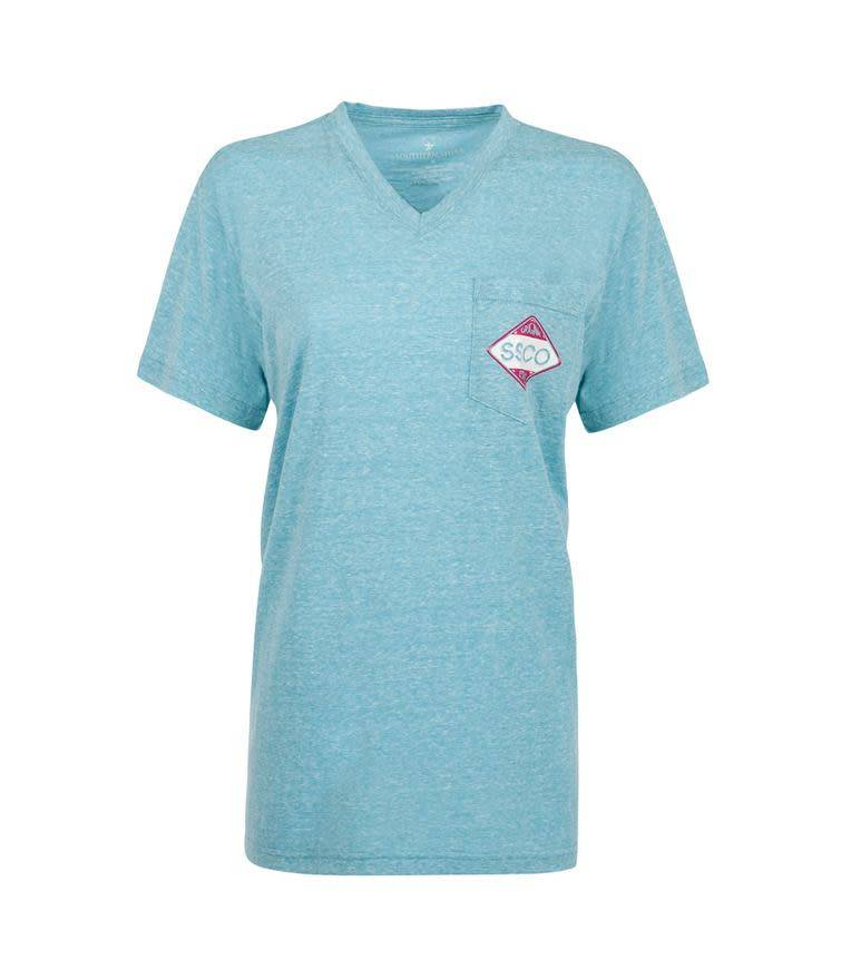 Southern Shirt Diamond Logo Vneck SS