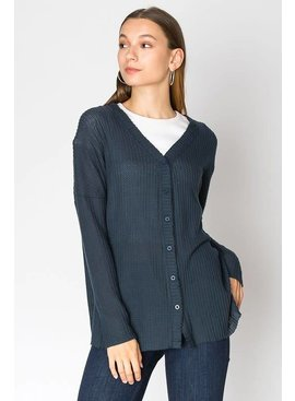 HYFVE OVERSIZED BUTTON DOWN FLEECE CARDIGAN