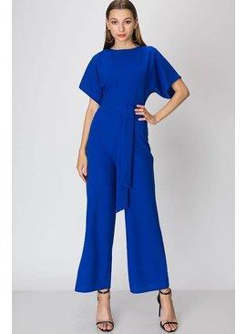FAVLUX Fashion SHORT SLEEVE CROSSOVER BACK JUMPSUIT