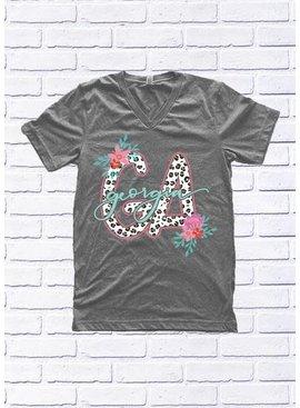 "GEORGIA: Leopard ""GA"" and Floral"