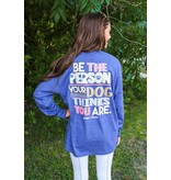 Jadelynn Brooke Be The Person Dog Thinks (Heather Navy) - Long Sleeve / V-Neck