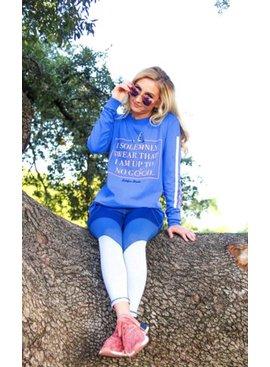 Jadelynn Brooke I Solemnly Swear (Poolside Blue) - Long Sleeve / Crew