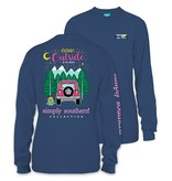 Simply Southern Collection Think Outside Long Sleeve T-Shirt - Moonrise