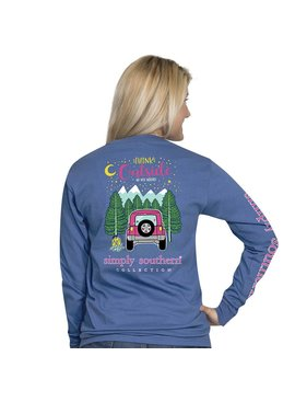 Simply Southern Collection Youth Think Outside Long Sleeve T-Shirt - Moonrise