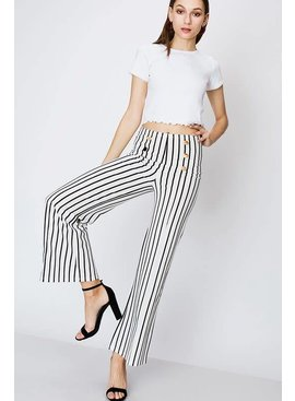 FAVLUX Fashion MILITARY STYLE STRIPE PANTS