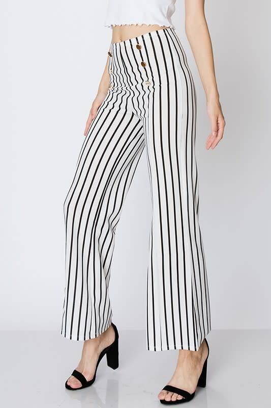 FAVLUX Fashion MILITARY STYLE STRIPE PANTS