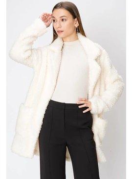 FAVLUX Fashion Faux Fur Blazer Coat