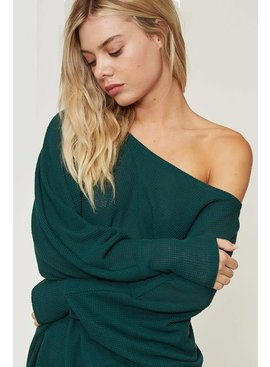 Fantastic Fawn One Shoulder Loose Fit Knit Top
