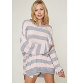 Fantastic Fawn Striped Sweatshirt